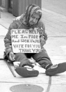 Homeless woman ready to vote for more hope, more change