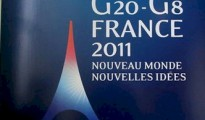 French postage stamp promoting the G20 meeting